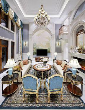 歐式別墅客廳圖 別墅客廳裝修設計