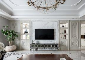 歐式電視柜背景墻 歐式電視背景墻裝修效果圖大全
