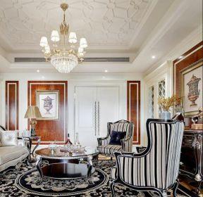 歐式風格別墅客廳吊頂造型設計效果圖-每日推薦