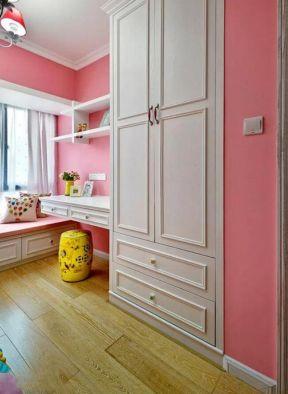 衣柜書桌一體效果圖 兒童房衣柜效果圖