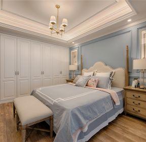 簡約美式別墅臥室整體衣柜效果圖-每日推薦