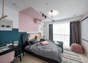 臥室窗簾裝飾圖片 臥室窗簾裝修效果圖大全2019圖片 混搭風格臥室裝修效果圖