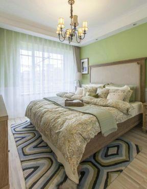 美式臥室裝修圖片 臥室窗簾裝飾圖片 小清新臥室裝修效果圖片