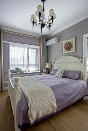臥室窗簾顏色 臥室窗簾裝飾圖 簡美臥室裝修圖