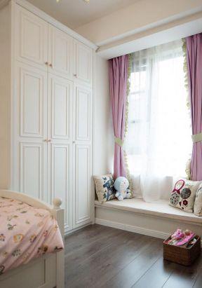公主房裝修設計 粉色窗簾圖片