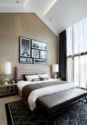 復式樓臥室裝修圖片 臥室窗簾裝飾圖片