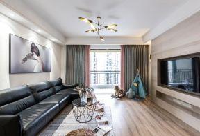 客廳木地板裝修效果圖大全欣賞 布藝窗簾裝修效果圖片