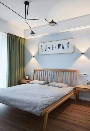 綠色窗簾裝修效果圖片 綠色窗簾圖片 臥室窗簾裝飾圖片