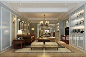 东舜公馆美式风格220平米四居室装修案例