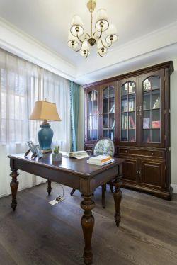 美式風格書房書柜裝潢設計效果圖片