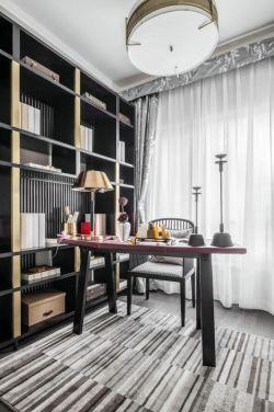 現代風格128平樣板間書房裝修圖片