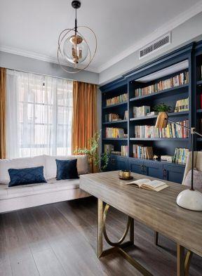 書房書桌效果圖 書房沙發圖片