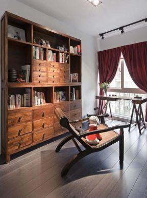 書房書柜效果圖 書房書柜設計圖 書房書柜圖片大全 混搭風格書房裝修