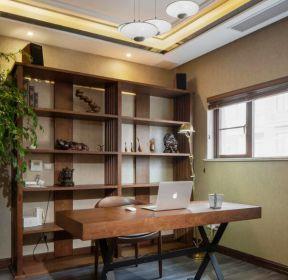 混搭風格書房室內書架裝修設計圖-每日推薦