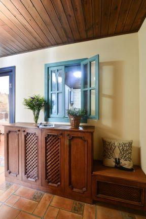 實木鞋柜設計 美式地中海風格家具