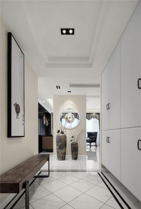 入戶鞋柜裝修 新中式鞋柜圖片