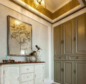 美式風格別墅進門玄關鞋柜設計圖-每日推薦