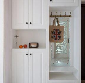 簡約美式風格進門鞋柜設計實景圖-每日推薦