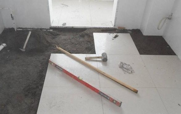 地磚鋪貼施工