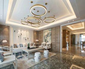 新中式別墅客廳裝修 新中式別墅客廳設計 新中式別墅客廳效果圖