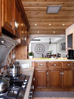 美式廚房裝修圖片 美式廚房圖