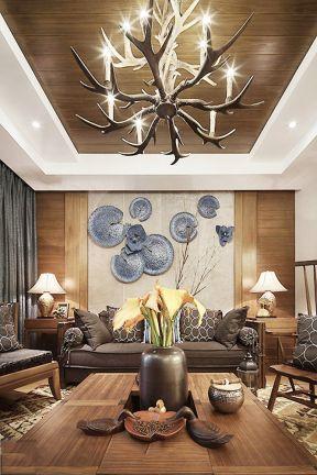 客廳吊頂設計效果圖 客廳生態木吊頂