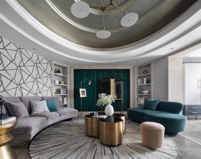 客廳吊頂裝飾 客廳吊頂裝潢效果圖 輕奢風格客廳