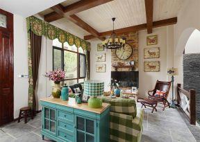 美式鄉村別墅客廳裝修圖片 美式鄉村別墅設計 美式鄉村別墅設計效果圖