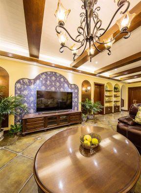 美式客廳吊頂效果圖大全 美式客廳吊頂圖