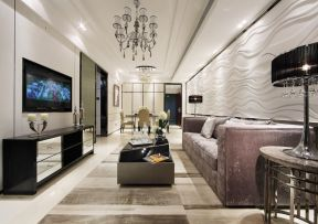 客廳吊頂的設計 現代客廳裝飾圖