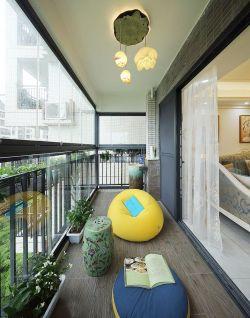 精美客厅阳台懒人沙发装修效果图