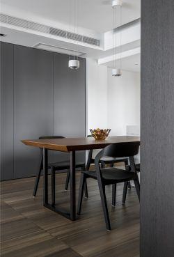 簡約風格房子餐廳木地板裝修設計圖