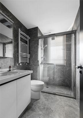 卫生间干湿分区装修效果图 卫生间干湿区隔断