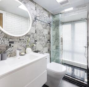 簡約風格衛生間地面瓷磚裝修設計圖-每日推薦