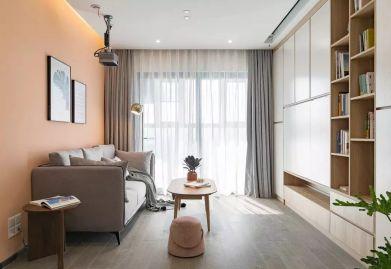 临汾100平米三居室现代简约风格装修,色彩运用的好,设计什么户型都好看