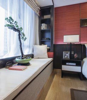 中式臥室飄窗設計 中式臥室飄窗 中式風格臥室裝修圖片