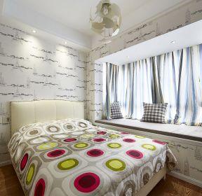 時尚臥室飄窗裝修設計實景圖-每日推薦