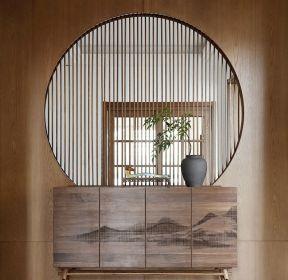 新中式風格家裝進門玄關隔斷圖片-每日推薦