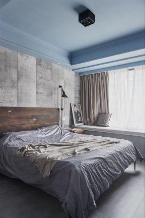 臥室吊頂裝修圖  臥室飄窗簾裝修效果圖