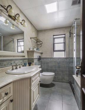 鏡前燈效果圖大全 衛生間洗手臺柜效果圖