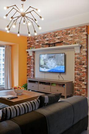 客廳電視柜背景圖片 客廳電視柜圖 混搭客廳裝修效果圖大全