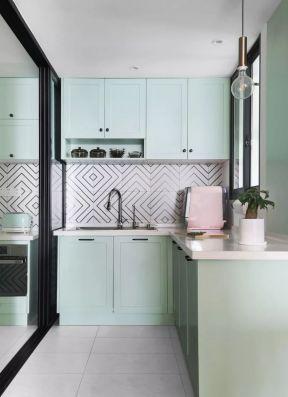 小清新廚房 廚房顏色裝修效果圖片