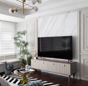 法式風格房子客廳電視柜裝修效果圖-每日推薦