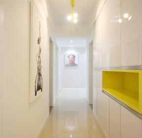 簡約風格房子白色玄關柜裝修效果圖片-每日推薦