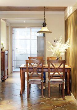 美式風格餐廳吊燈裝修設計圖欣賞