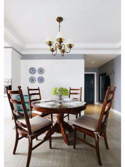 美式風格家庭餐廳吊燈裝修設計圖