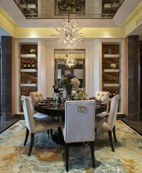 新古典風格餐廳裝修 新古典風格餐廳裝修圖片