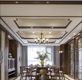 中式風格餐廳吊燈裝潢設計圖片-每日推薦