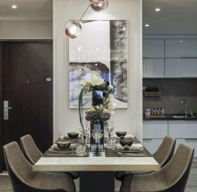 現代風格樣板房餐廳裝修設計圖-每日推薦
