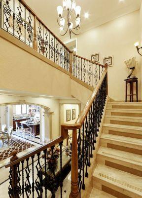 別墅樓梯大全 美式別墅樓梯裝修效果圖